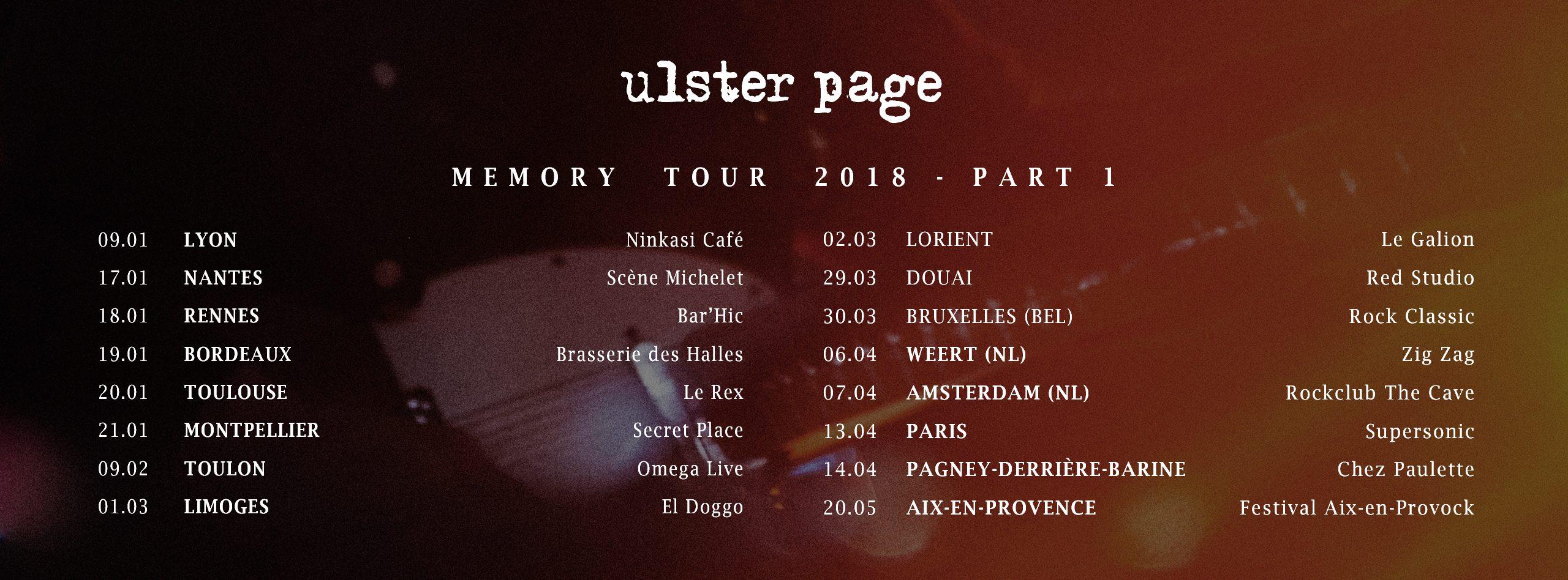 MEMORY TOUR 2018 PART 1