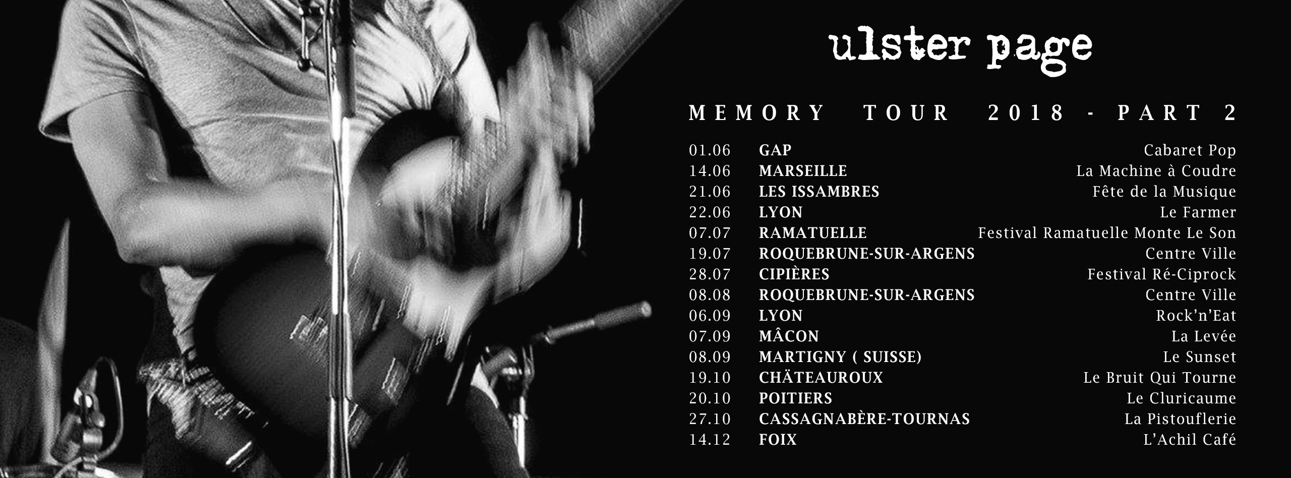 ULSTER PAGE MEMORY TOUR 2018 PART 2